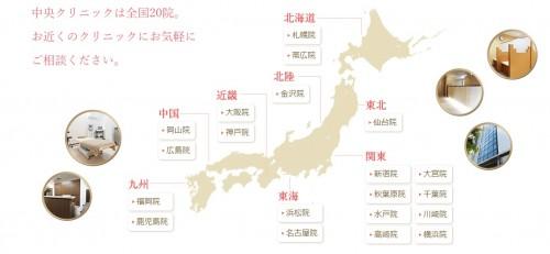 中央クリニック静岡と新宿比較